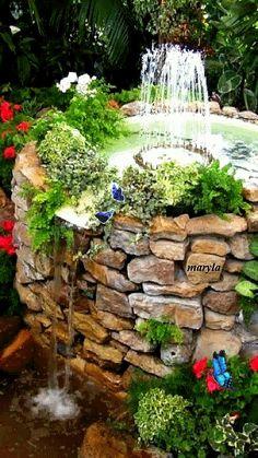 Fountain in the garden...
