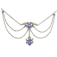 Very Fine and Feminine Edwardian Necklace   From a unique collection of vintage multi-strand necklaces at https://www.1stdibs.com/jewelry/necklaces/multi-strand-necklaces/