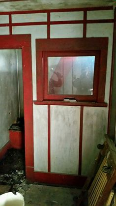 The inside ticket window of The Strand before renovation.