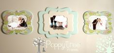 Cute, whimsical, vintage looking, chunky, artsy, and just plain rad picture frames from Poppy Tree Frames!!!
