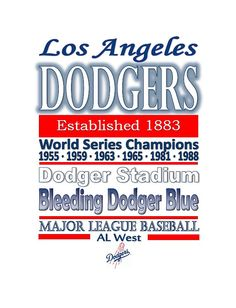 Large Los Angeles Dodgers Logo Cut Out From