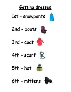 Kindergarten Getting Dressed poem with Math and Literacy activities
