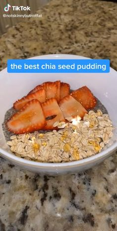 Best Chia Seed Pudding Recipe, Pudding Recipes, Chia Pudding, Dessert Recipes, Healthy Sweets, Healthy Snacks, Food Videos, Baking Videos, Recipe Videos