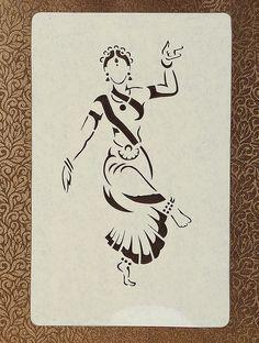Female Dancer Sanjhi Wall Art 14.5in X 10.5in