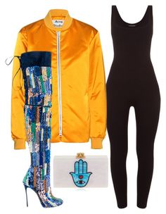 """Untitled #6169"" by stylistbyair ❤ liked on Polyvore featuring Acne Studios, Dsquared2 and Edie Parker"