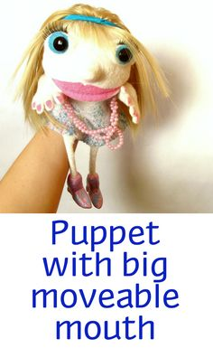 Puppet with big moveable mouth | puppets • hand puppets • finger puppets • muppets • bibabo • puppet theater • puppet diy • puppets for kids to make • muppets funny • muppets party • muppet quotes • muppets birthday party | ★ bozhenafelt.etsy.com