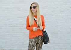 Orange and Black Outfit