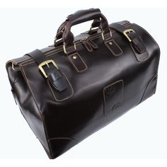 Vintage Handmade Superior Leather Travel Bag / Leather Luggage / Overnight Bag / Tote / Duffle Bag