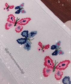 Cross Stitch Patterns, Elsa, Embroidery, Crochet, Butterfly Cross Stitch, Cross Stitch Art, Bath Linens, Cross Stitch Embroidery, Embroidery Stitches