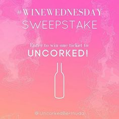 #WineWednesday= WINE  FREE TICKET to Uncorked! Summer 2016 : @uncorkedbda  Enter to WIN a TICKET for Uncorked! Summer 2016!  As part of #WineWednesday every Wednesday leading up to the event you will have the opportunity to WIN YOUR TICKET (1) to Uncorked! Summer 2016. But don't fall asleep and participate today!  TO PARTICIPATE:  1st. Find us on Facebook @UncorkedBermuda and share this post on your Facebook wall (You must include image and instructions/rules). 2nd. Go to UNCORKEDs official…