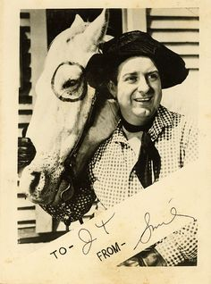 Lester Alvin Burnett, better known as Smiley Burnette, was a popular American country music performer and a comedic actor in Western films and on radio and TV, playing sidekick to Gene Autry and other B-movie cowboys. (Petticoat Junction) 1911-67
