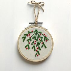 "57 Likes, 9 Comments - Emma Phillips (@primrosethreads) on Instagram: ""Shop update tonight, 8pm Central Time. ❄️ . . . . . #embroidery #ornament #ornaments…"""