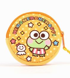 Saving pennies with the #Keroppi neoprene coin purse from the Sanrio Blush collection