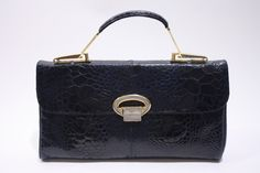 Beautiful Vintage 50's/60's Blue Turtle Handbag with Gold Hardware.  at Rice and Beans Vintage http://www.riceandbeansvintage.com/NewArrivals/Vintage_Blue_Turtle_Handbag.html