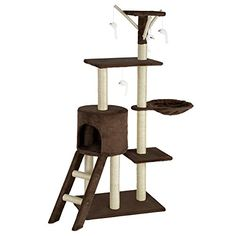 Árbol para Gatos TecTake - Color Marrón Sisal, Pallet Projects, Beige, Cats And Kittens, Dogs And Puppies, Graffiti, Shiro, Ebay, Home Decor