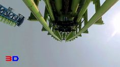 Aftershock 3D front seat on-ride HD POV @60fps Silverwood Theme Park