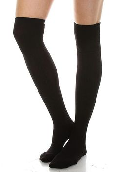 One Size 1 Pair Gipsy Cable Over Knee Socks 95/% Nylon 5/% Elastane