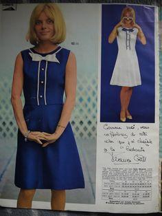 Presse vintage : La Redoute Printemps/Été 1966 | Ma plus belle tenue France Gall, French Pop, Francoise Hardy, Sixties Fashion, Mode Vintage, Shakira, Singer, Shirt Dress, Celebrities