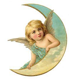 Angel on Moon