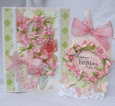 birthday card and tag