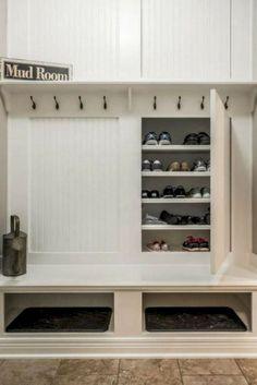 Mudroom Shoe Storage Ikea Mud Rooms 43 Ideas For 2019 Mudroom Storage Bench, Entryway Shoe Storage, Mudroom Laundry Room, Bench With Storage, Closet Storage, Diy Storage, Locker Storage, Mudroom Benches, Entryway Ideas