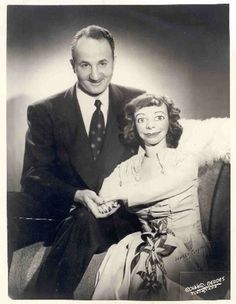 Ventriloquist & dummy- vintage photo...SCARY!!!
