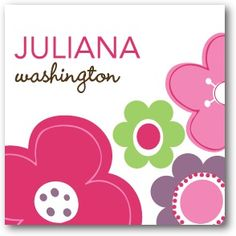 Custom Gift Tag Stickers - Fun flowers by Tiny Prints Great for labeling school items!