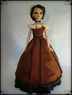 Evening bodice with 1860's skirt, by pickedfrommarysgarden