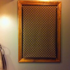 "Retractable Blinds with fabric glued around the edges on the opposite side, about 2"" works great and you cant see the fabric from outside :) Blinds/Brackets-Walmart Fabric- Hobby Lobby"