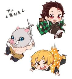 Anime Demon, Manga Anime, Anime Art, Cute Anime Chibi, Anime Kawaii, Cute Kawaii Animals, Anime Stickers, Wallpaper Iphone Disney, Slayer Anime
