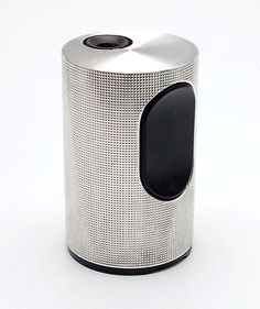 Silver plated table-lighter Cylindric TFG-2 design Dieter Rams 1966 executed by Braun / Germany produced in Ireland