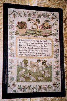 Linen and Threads - The Scarlett Letter - Grazing Sheep - linenandthreads.com