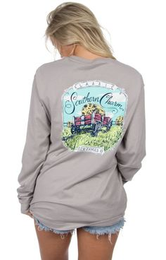 Grey - Classic Southern Charm - Long Sleeve Back