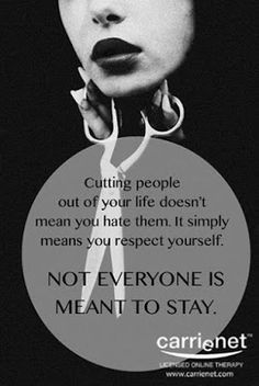 Cutting dysfunctional people out of my life was one of the best decisions that I have ever made. Once you're at a certain station in life you can't go backwards. You can't tolerate people in your life who are toxic. Cutting People Out Of Your Life, Hurt By Family, Difficult Relationship Quotes, No More Drama, Drama Free, Cutting Ties, Working On Me, Dealing With Difficult People, Toxic Family