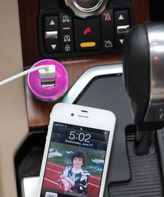 Take a look at this Pink USB Car Charger by DCI on #zulily today!