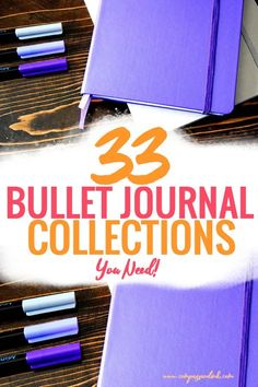 33 Bullet Journal Collections you need for your bullet journal. Chalk full of bullet journal collection ideas and bullet journal collection inspiration! #bulletjournaling #bulletjournalcollection  #bulletjournal