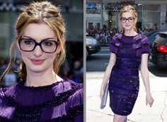 anne hathaway - cute glasses