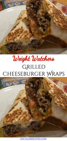 Grilled cheeseburger wraps weight watchers weightwatchersrecipes smartpointsrecipes weightwatchers weight_watchers healthy skinny_food recipes smartpoints cheeseburger creamy french onion beef and noodles Skinny Recipes, Ww Recipes, Gourmet Recipes, Low Carb Recipes, Cooking Recipes, Healthy Recipes, Grilled Recipes, Cleanse Recipes, Thai Recipes