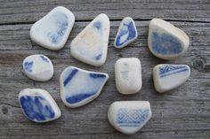 sea glass pottery pieces