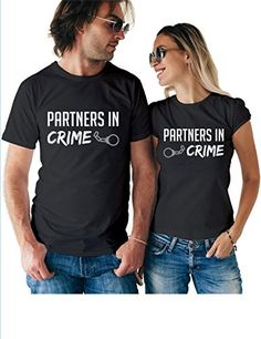 4818d2944 Partners in Crime Matching Couple T Shirts – His and Hers Custom Shirts –  Couples Outfits