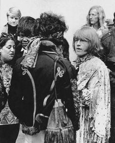 Mama Cass. Buddy Miles, Jimi Hendrix, and Brian Jones at the Monterey Pop Festival, June 18, 1967. The Rolling Stones, Brian Jones Rolling Stones, Rock N Roll, Rock & Pop, Pop Rocks, Monterey Pop Festival, Michelle Phillips, Jimi Hendrix Experience, Cat Stevens