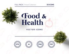 """Check out my @Behance project: """"Fitfood Icons Set - Food & Health Pack"""" https://www.behance.net/gallery/61639271/Fitfood-Icons-Set-Food-Health-Pack 8 CATEGORIES: vegetables, fruit, meats, dairy, dishes, cutlery, life essentials, buttons INCLUDES: editable strokes and expanded shapes of every icon 30 icons + 3 patterns stroke and stroke + fill COLOR: customizable VECTORS: easily modifiable 30 icons + 3 patterns stroke and stroke + fill"""