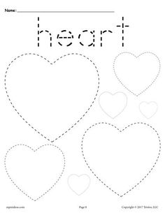 FREE preschool tracing shapes worksheets. Includes a heart tracing worksheet plus 11 other shapes tracing worksheets. Great for toddlers too! Get them all here --> http://www.mpmschoolsupplies.com/ideas/7545/12-free-shapes-tracing-worksheets/