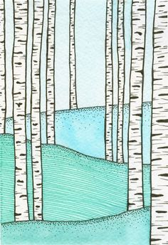Blue Birch - Limited Edition Giclee Print