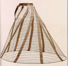 Crinoline Cage or hoop skirt