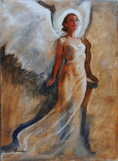Top 15 Angel Paintings On Etsy! An angel painting is a great way to uplift the energy of a room with light and color! And of course… A beautiful reminder of the love and guidance of your Angel Sketch, Wings Sketch, Angel Drawing, Angel Artwork, Angel Paintings, Portrait Pictures, Art Costume, Painting Lessons, Art Lessons