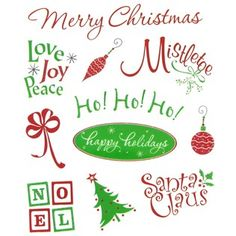 """It's the most wonderful time of the year! Use these acid-free Everyday Christmas Glitter Stickers in scrapbook layouts, handmade cards, gift tags, and so much more.    In traditional red and green hues, these stickers include designs like ornaments, Christmas trees, and bows, along with plenty of Christmasy phrases. Put a personal touch on your holiday crafts!        Dimensions:      Length: 3/4"""" - 1""""    Width: 1"""" - 3 5/8""""          Package ..."""
