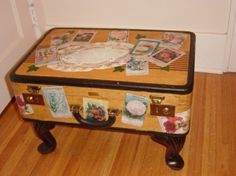 little suitcase on a footstool base. by jonsnent
