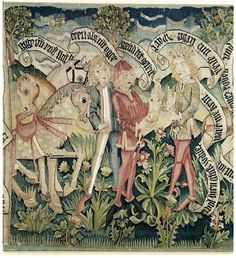 Tapestry | France; Strasbourg | 1480-1490 | linen, wool, silk, cotton | Victoria & Albert Royal Museum | Museum #: 4509-1858