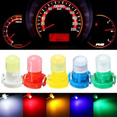 10x T10 501 W5W Car SUV Interior Side Light Dashboard Dash Panel Gauge Bulbs Top